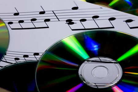 Photo for cd and sheet music - Royalty Free Image
