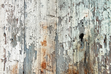 Photo for Old wood  planks with white peeling paint background - Royalty Free Image