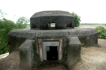 Dutch army military defense bunker during the second world war in the town of Tarakan, Indonesia