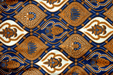 Foto de detailed patterns of Indonesia batik cloth - Imagen libre de derechos