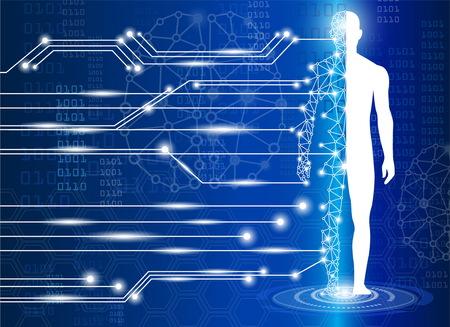 Illustration pour technology concept,technology medical science in future - image libre de droit