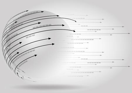 Illustrazione per science futuristic internet high technology business background - Immagini Royalty Free