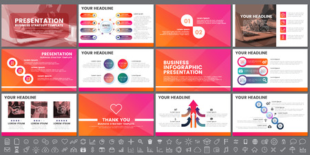 Ilustración de Modern Elements of infographics for presentations templates for banner, poster. - Imagen libre de derechos