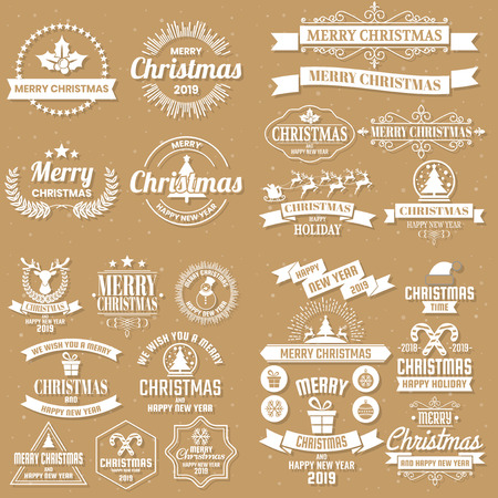 Illustration for Christmas Background Vector background for banner, poster, flyer - Royalty Free Image
