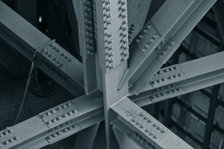 Photo pour Bridge frame closeup. Horizontal toned image - image libre de droit