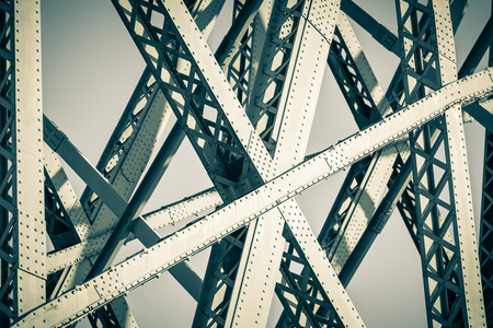Photo for Modern Bridge frame closeup. Filtered image - Royalty Free Image