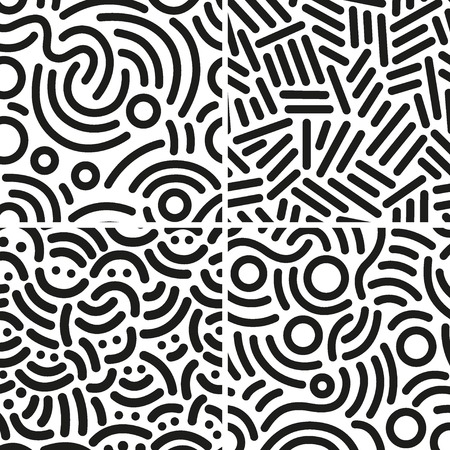 Ilustración de seamless abstract backgrounds with lines - Imagen libre de derechos