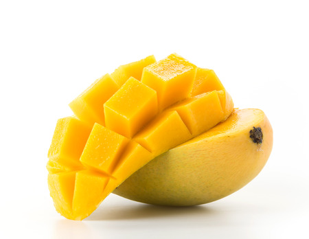 Foto de fresh mango on white background - Imagen libre de derechos