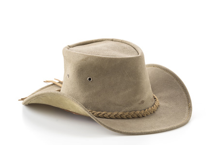 Foto de cowboy hat on white background - Imagen libre de derechos