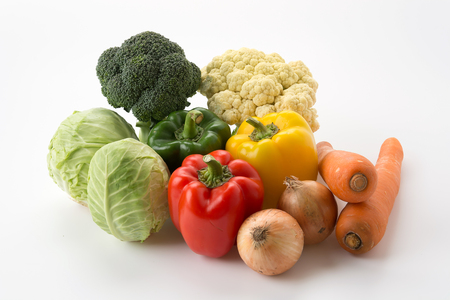 mix vegetable on white background