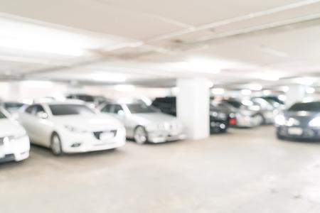 Foto de abstract blurred parking car - Imagen libre de derechos