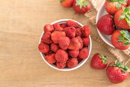 Foto de dried strawberry snack on the table - Imagen libre de derechos