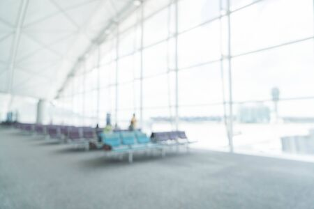 Foto de abstract blur in airport for background - Imagen libre de derechos