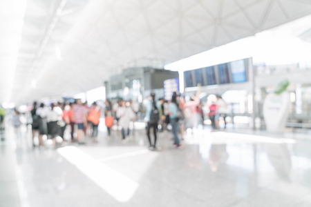 Photo for abstract blur in airport for background - Royalty Free Image