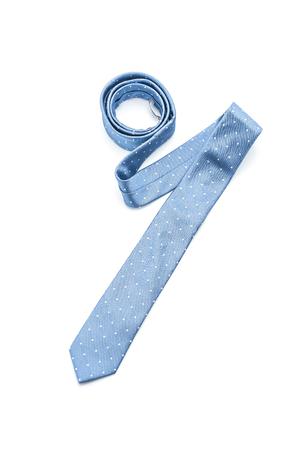 Foto de beautiful blue necktie isolated on white background - Imagen libre de derechos