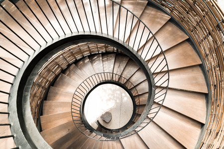 Photo for Spiral circle Staircase decoration interior - vintage effect filter - Royalty Free Image