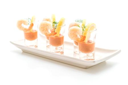 Foto de shrimp cocktail isolated on white background - Imagen libre de derechos