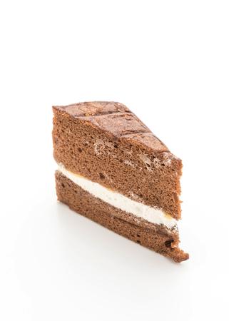 Photo for chocolate chiffon cake isolated on white background - Royalty Free Image