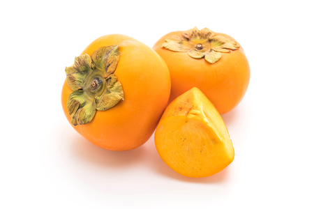 Photo for fresh persimmon isolated on white background - Royalty Free Image
