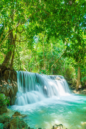 Photo for Beautiful Huay Mae Kamin Waterfall at Kanchanaburi in Thailand - Royalty Free Image