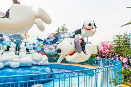 Foto de Osaka, Japan - NOV 21 2016 : The theme park attractions based on the film industry at Universal Studios Theme Park in Osaka, Japan. - Imagen libre de derechos