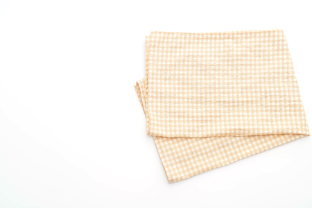 Photo pour kitchen cloth (napkin) isolated on white background - image libre de droit