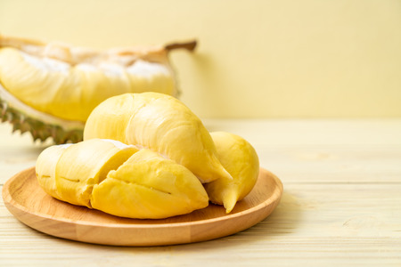 Photo for Fresh Durian Fruit on wood background - Royalty Free Image