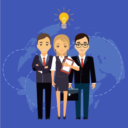 Illustration pour Business team, group director chief boss. The company staff - image libre de droit