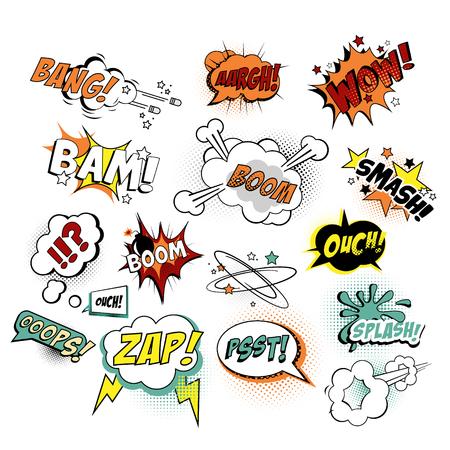 Illustration pour illustration Comics Texts, Pop Art style. - image libre de droit