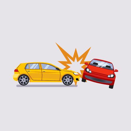 Ilustración de Car Insurance and Accident Risk Colourful Vector Illustration - Imagen libre de derechos