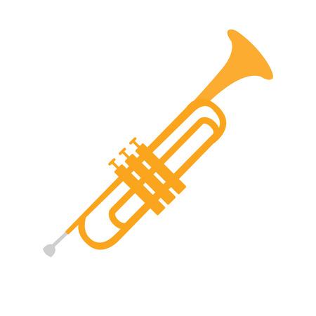 Illustration pour Cornet, Part Of Musical Instruments Set Of Realistic Cartoon Vector Isolated Illustrations - image libre de droit