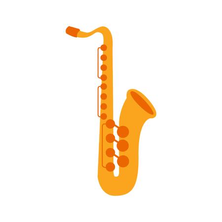 Illustration pour Saxophone, Part Of Musical Instruments Set Of Realistic Cartoon Vector Isolated Illustrations - image libre de droit