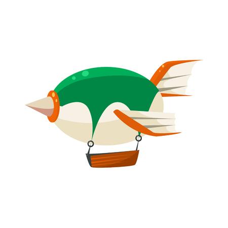 Illustration pour Fantastic Dirigible Toy Aircraft Icon - image libre de droit