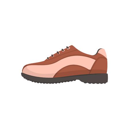 Ilustración de Golf shoe, golfer sport equipment cartoon vector Illustration - Imagen libre de derechos