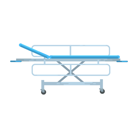 Illustration pour Adjustable mobile hospital bed , medical equipment vector Illustration - image libre de droit