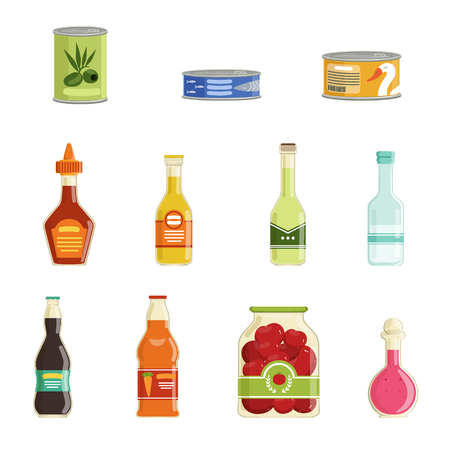 Illustration for Canned goods vector set - Royalty Free Image