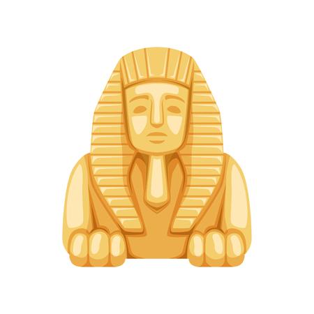Ilustración de Egyptian Sphinx statue, symbol of ancient Egypt  Illustration. - Imagen libre de derechos