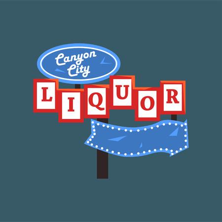 Ilustración de Liquor, Canyon City banner. - Imagen libre de derechos