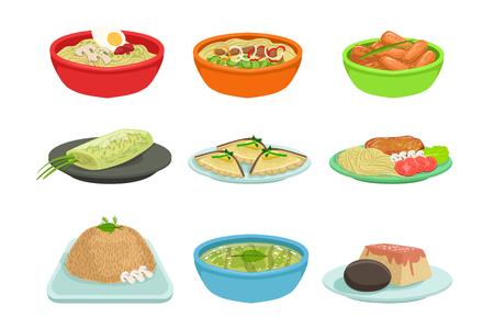 Illustration pour Asian Food Set - image libre de droit