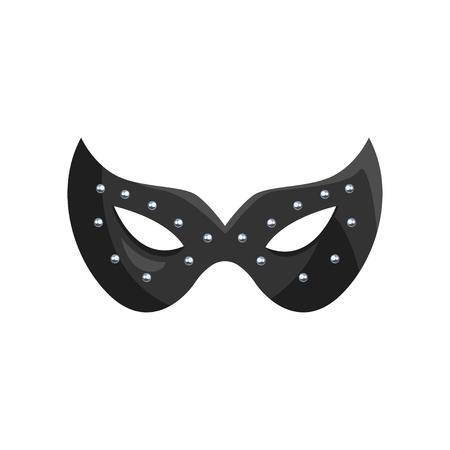 Illustration pour Black leather mask, fetish stuff for role playing and bdsm vector Illustration. - image libre de droit