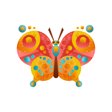 Illustrazione per Colorful butterfly insect vector Illustration on a white background - Immagini Royalty Free