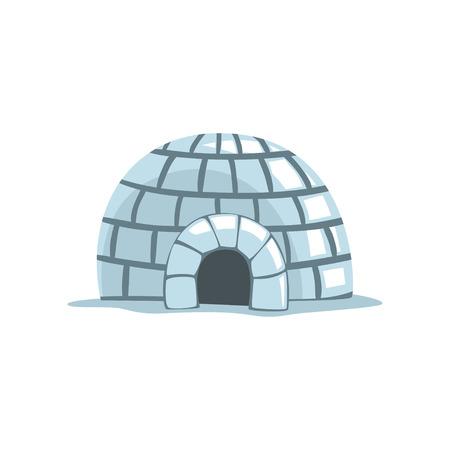 Ilustración de Igloo, eskimo house vector Illustration on a white background - Imagen libre de derechos