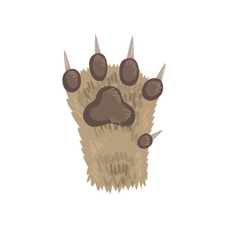 Ilustración de Paw of a cat animal vector Illustration on a white background - Imagen libre de derechos
