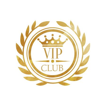 Illustration pour VIP club, luxury golden badge for club, resort, boutique, restaurant, hotel vector Illustration on a white background - image libre de droit