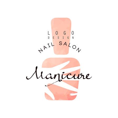 Illustration pour Manicure nail saloon, design element for nail bar, manicure studio, manicurist technician vector Illustration on a white background - image libre de droit