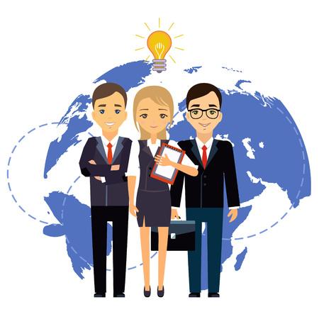 Illustration pour Business group director chief boss. The company staff - image libre de droit