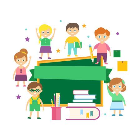 Illustration pour Kids Learning. Vector Illustration - image libre de droit