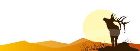 Ilustración de Hunting Adventure. Vector illustration Poster Trip collection - Imagen libre de derechos