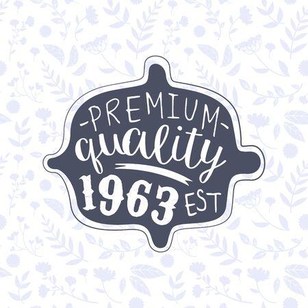Illustration pour Premium Quality Banner Template, Retro Vintage Badge or Label Vector Illustration - image libre de droit
