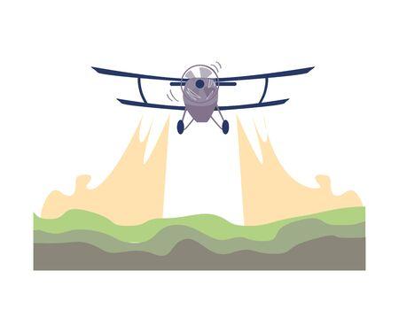 Illustration pour Environmental Pollution and Its Source Vector Illustration. Air Pollution Because of Transport Fuel Emission. Ecology Problem Concept - image libre de droit